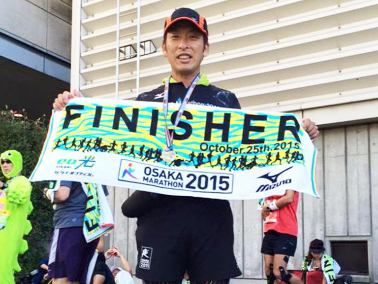 大阪マラソン完走した時の写真