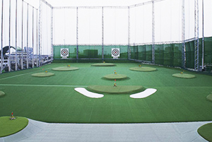 イーグルゴルフ大正校の練習場からの景観